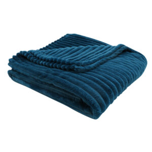 THROW – 60″ X 50″ / BLUE ULTRA SOFT RIBBED STYLE
