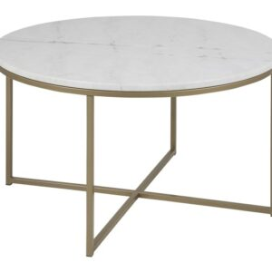 Alim Coffee Table- Round Base Gold