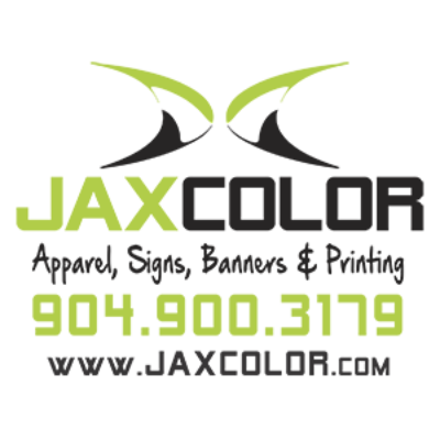 JaxColor logo with info simple