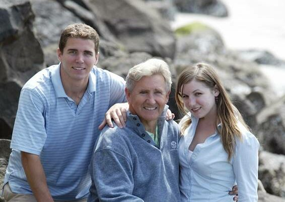 Neil w son and daughter