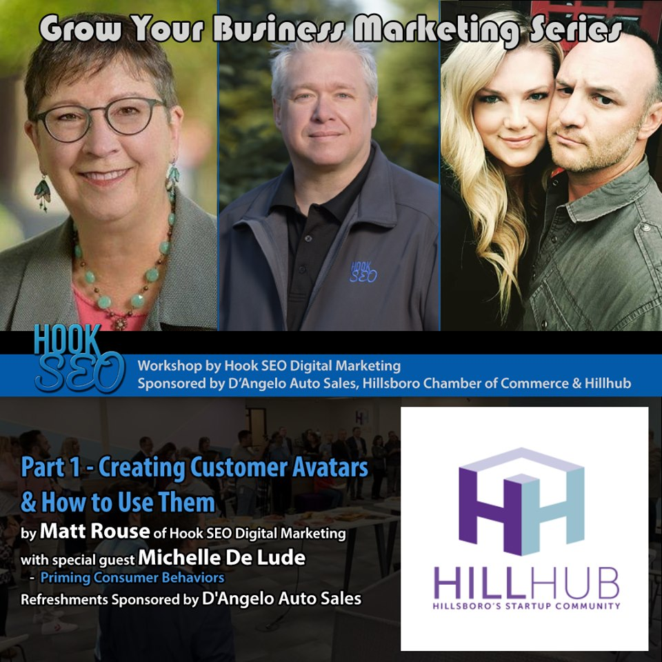 HillHub Marketing Event sponsored by D'Angelo Auto Sales, Hook SE Digital Marketing, Destinations Hypnosis