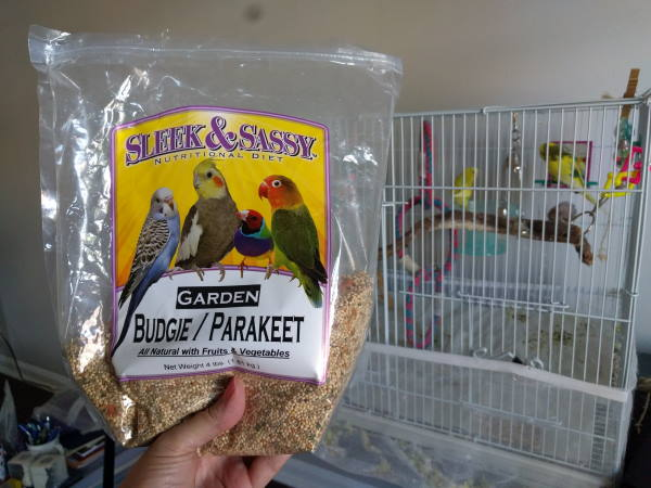 container of bird seed