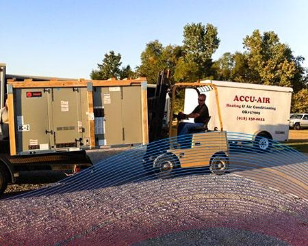 Technician Driving Trailer Shipment