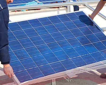 Technicians Installing Solar Pannel
