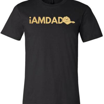 i am dad 365 black & gold t-shirt