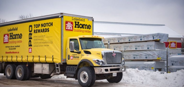 Lakefield Home Building Center Delivery Truck