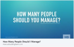 How Many People Should you Manage
