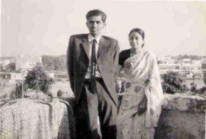 Balivada with wife Sarada in Delhi