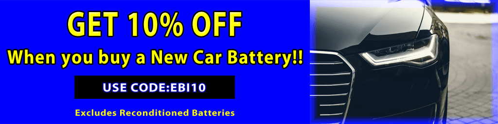 10% Off New Car Battery Purchase
