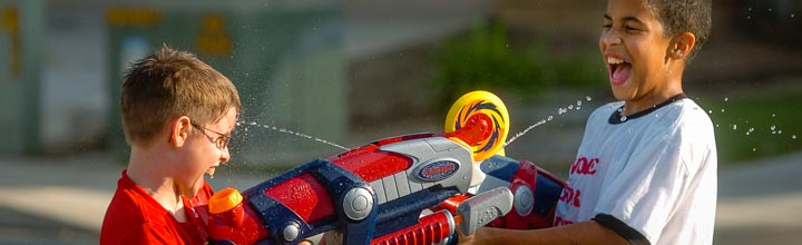 From The Archives: Cooling Off With An Epic Squirt Gun Battle