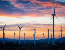 Whitewater, CA: Wind Turbines Stand Like Sentinels at Sunrise