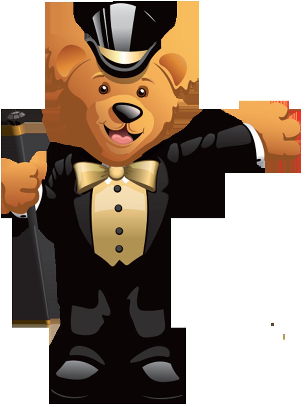 gold sir fun bear