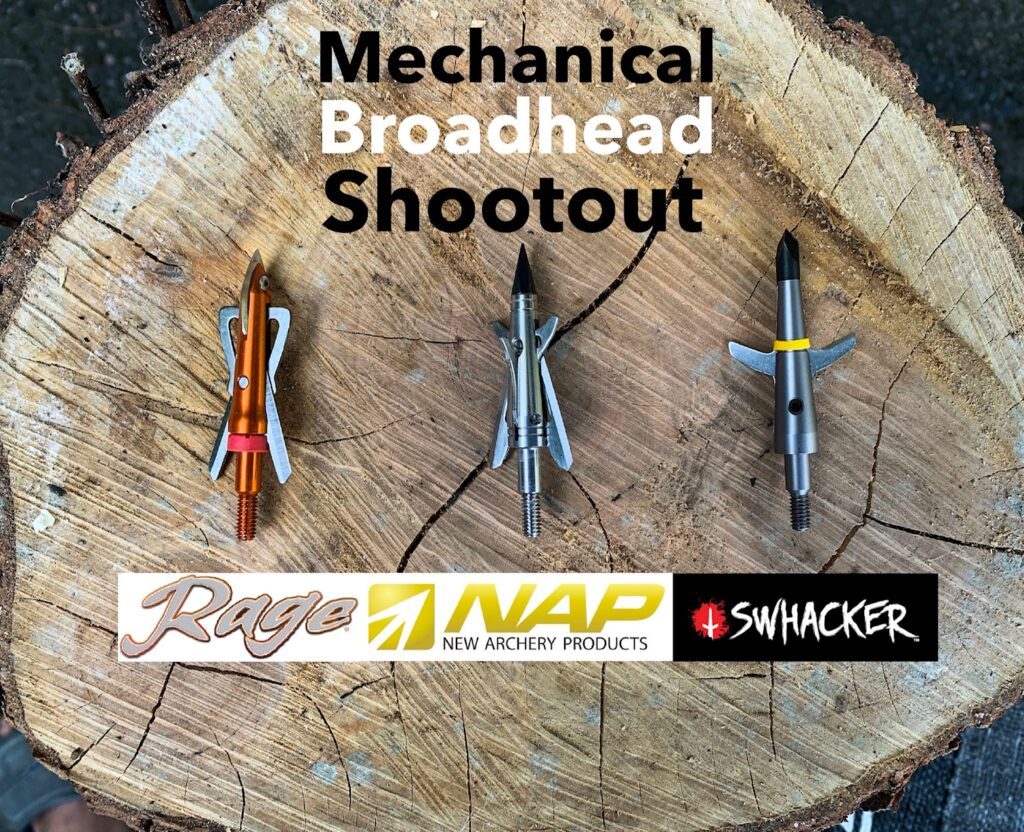 image of three mechanical broadheads for comparison