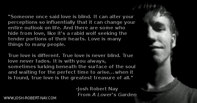 A Lover's Garden Book By Josh Robert Nay, Poetry Books, Romance Collection