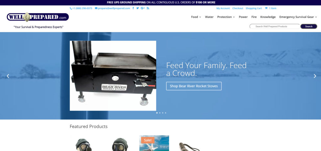 Well Prepared website header