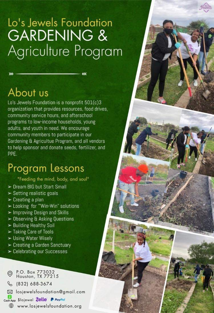 Lo's Jewels Foundation Community Garden and Agriculture Program