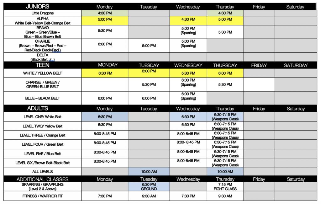 Schedule 060421