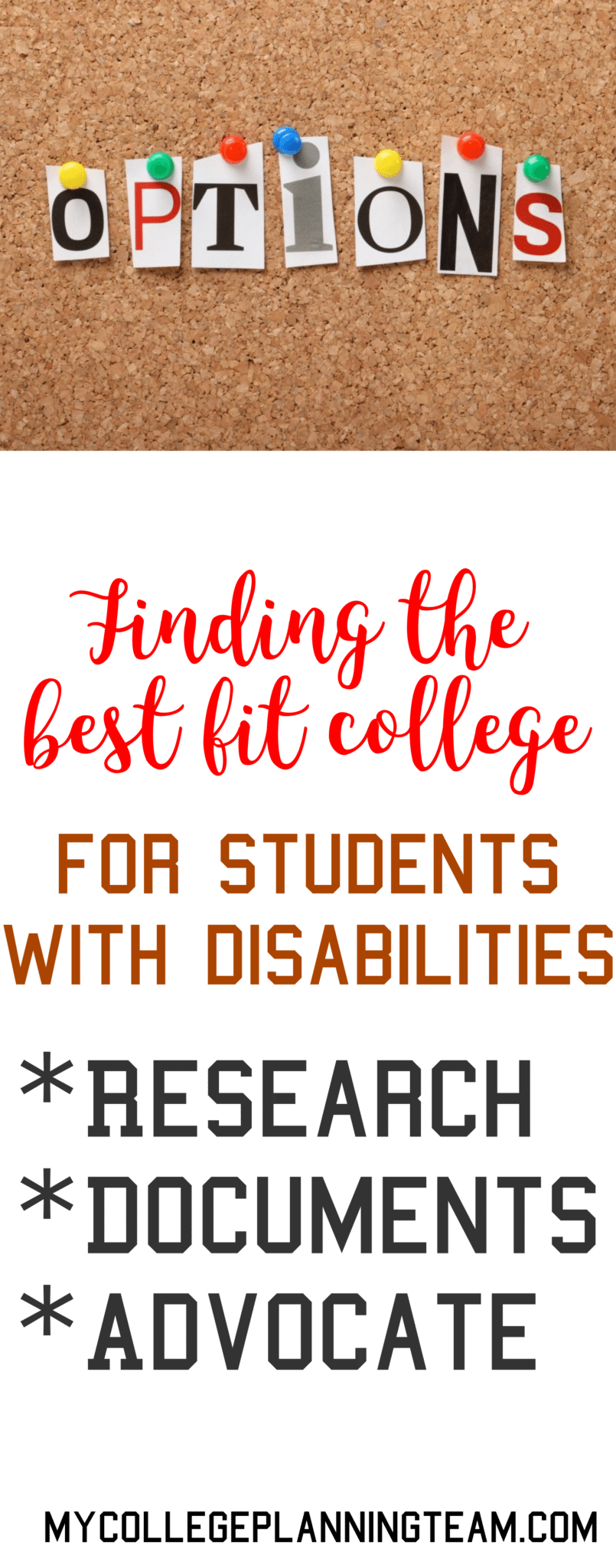 college for a student with disabilities