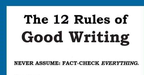 12 Rules of Good Writing