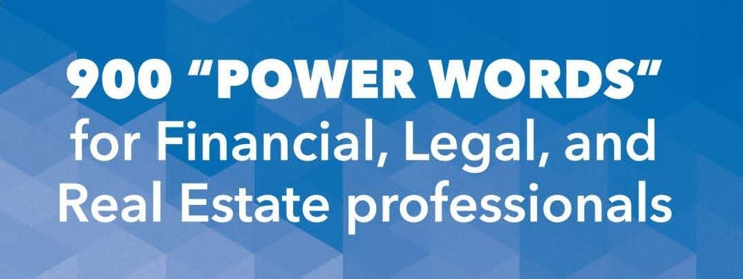 Power Words for Financial legal real estate