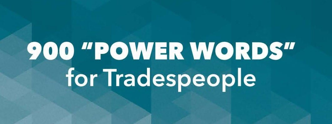 Power words for Tradespeople
