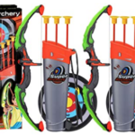 2-Sets-Archery-Bow-and-Arrow-for-Kid quiver, bow, arrows, and targets