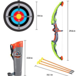 2-Sets-Archery-Bow-and-Arrow-for-Kid quiver, target, bow, and arrow