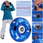EJOY-Snow-Tube-Inflatable-Snow-Sled with details of valve