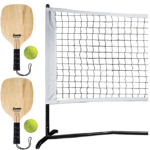 Franklin-Sports-Half-Court-Size-Pickleball net and paddle