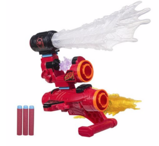 HASBRO-SPIDER-MAN-NERF-MILES-MORALES-ASSEMBLER-GEAR out of box