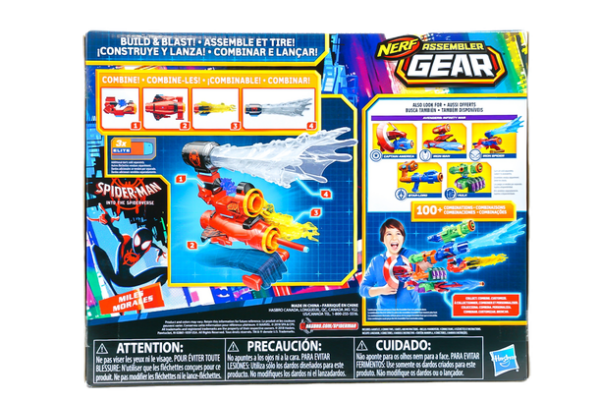HASBRO-SPIDER-MAN-NERF-MILES-MORALES-ASSEMBLER-GEAR back of box