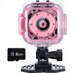 Ourlife-Kids-Waterproof-Camera-with-Video-Recorder pink