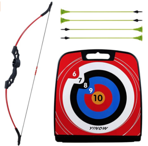 SinoArt-4722-Bow-and-Arrow-Set bow, target, and arrows