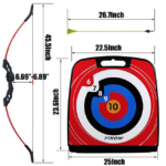 SinoArt-4722-Bow-and-Arrow-Set measurements of target and bow