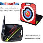 SinoArt-4722-Bow-and-Arrow-Set case and target
