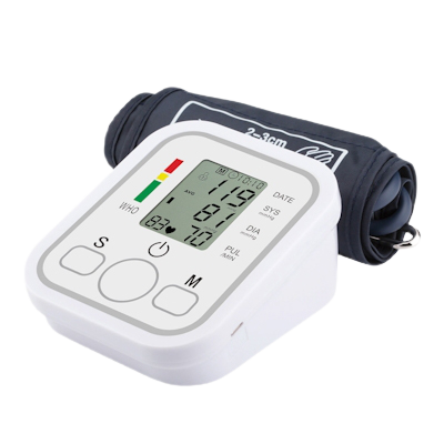 Angelica Wellness Shop Automatic Upper Arm Blood Pressure Monitor and cuff left side view