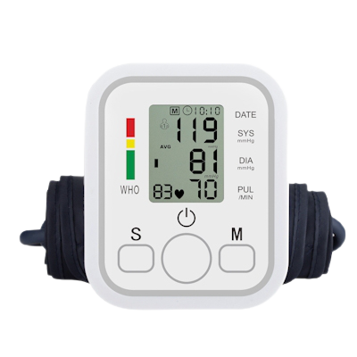Angelica Wellness Shop Automatic Upper Arm Home Blood Pressure Monitor and Cuff front view