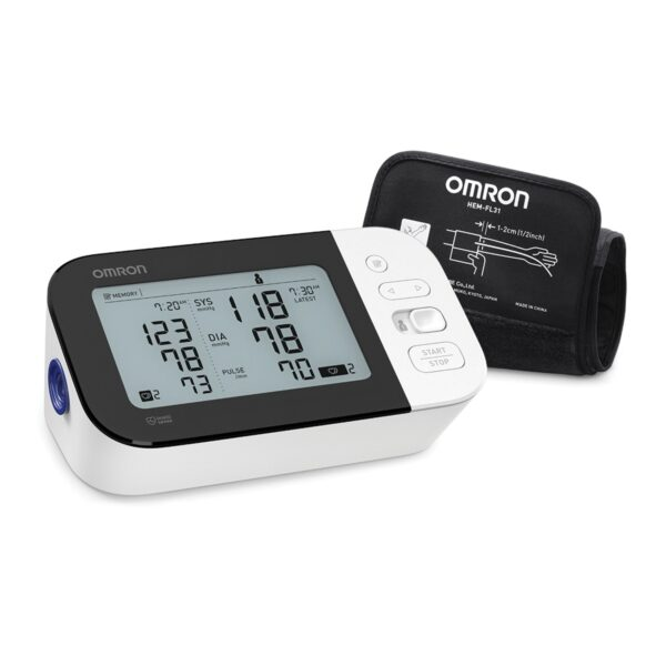 omron bp 7350 side view