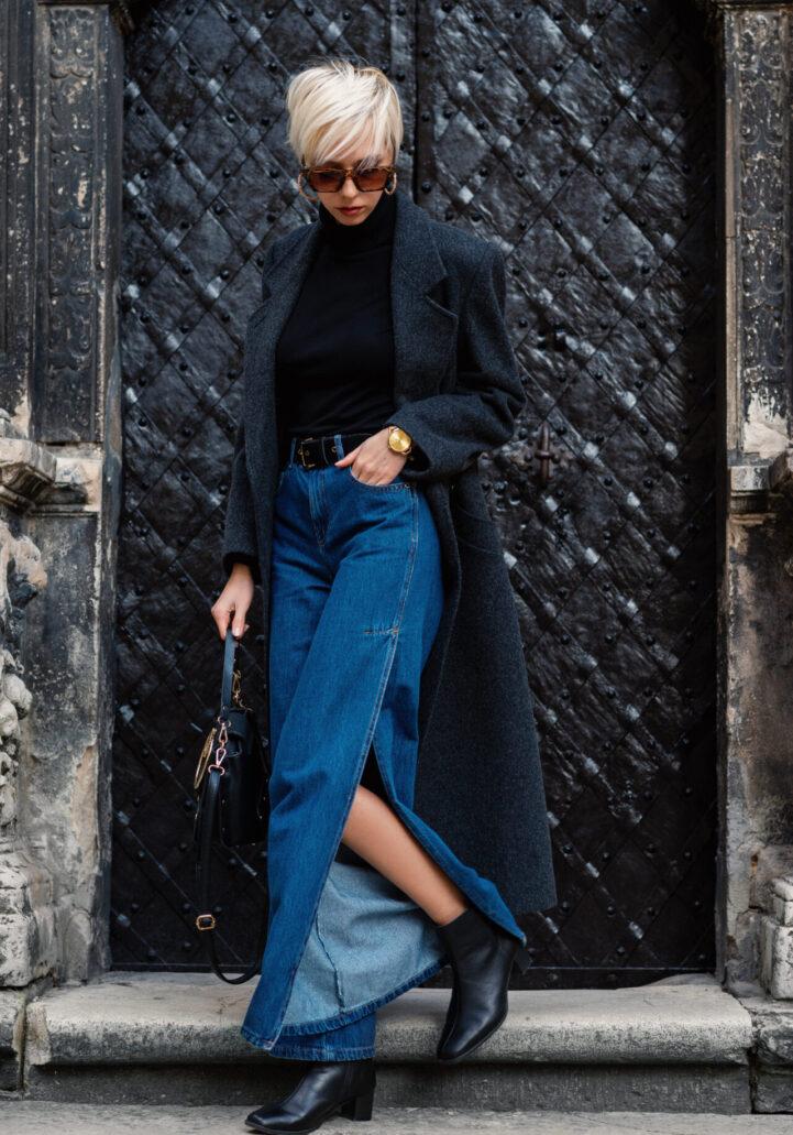 Street,Style,,Autumn,,Winter,Fashion,Concept:,Fashionable,Lady,Wearing,Luxury