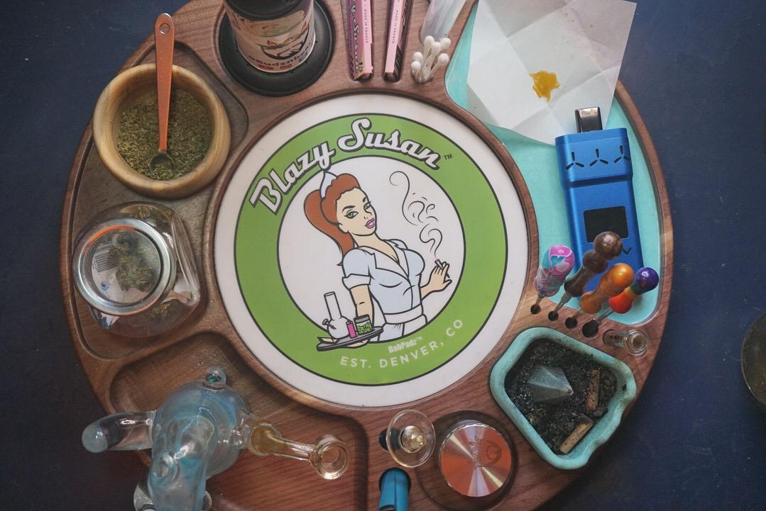 Blazy Susan Review // Cannabis Storage Solution