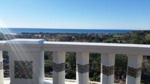 View of Pacific Ocean from Serra Retreat