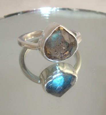 Labradorite Drop Ring