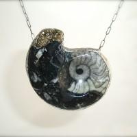 Fossilized Ammonite Necklace