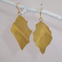 Glowing Brass Earrings