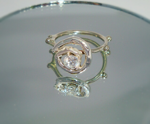 Silver Helix Ring