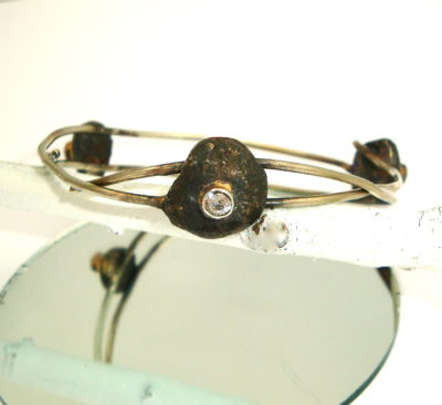 Quarry & Crystal Bangle