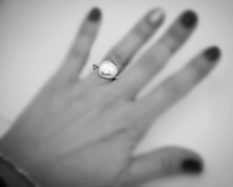Silver Nugget Ring