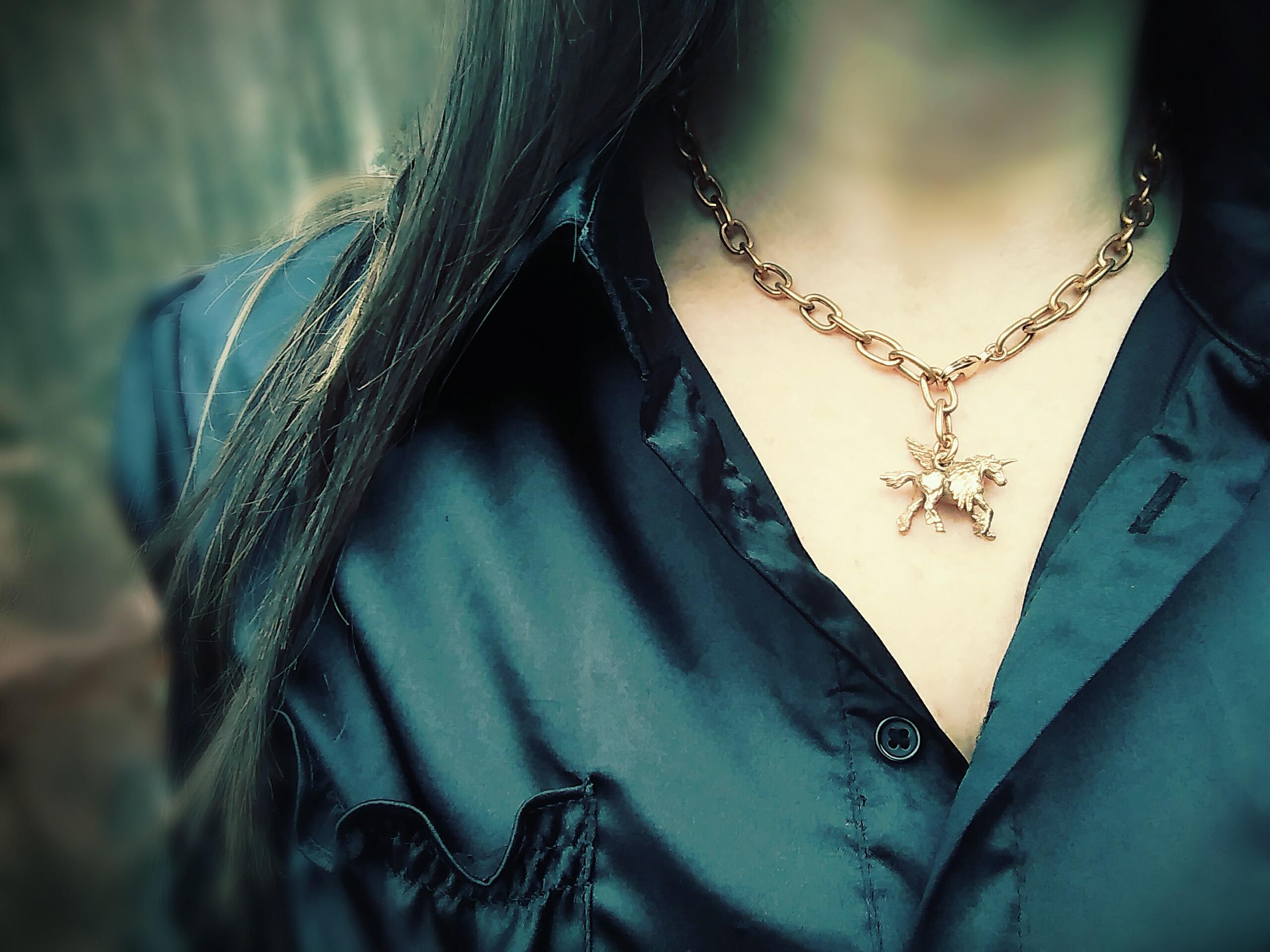 Antiqued Unicorn Necklace