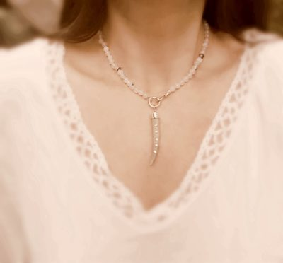 Diamond Antler Necklace