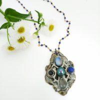 Lapis Cross Necklace